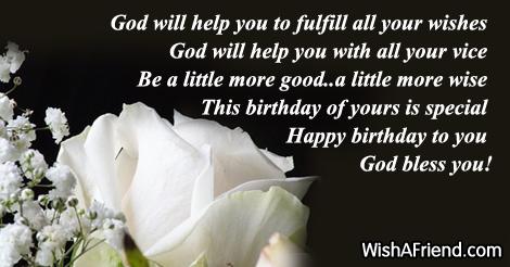 Birthday Wishes Christian Message ~ Christian birthday wishes