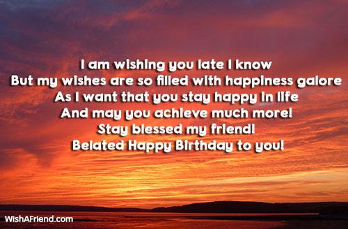 Late Birthday Wishes – Belated Happy Birthday Greetings