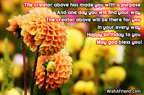 the creator above has made you religious birthday wish