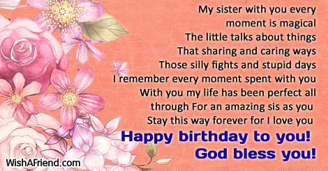 happy birthday sister poems Sister Birthday Poems happy birthday sister poems