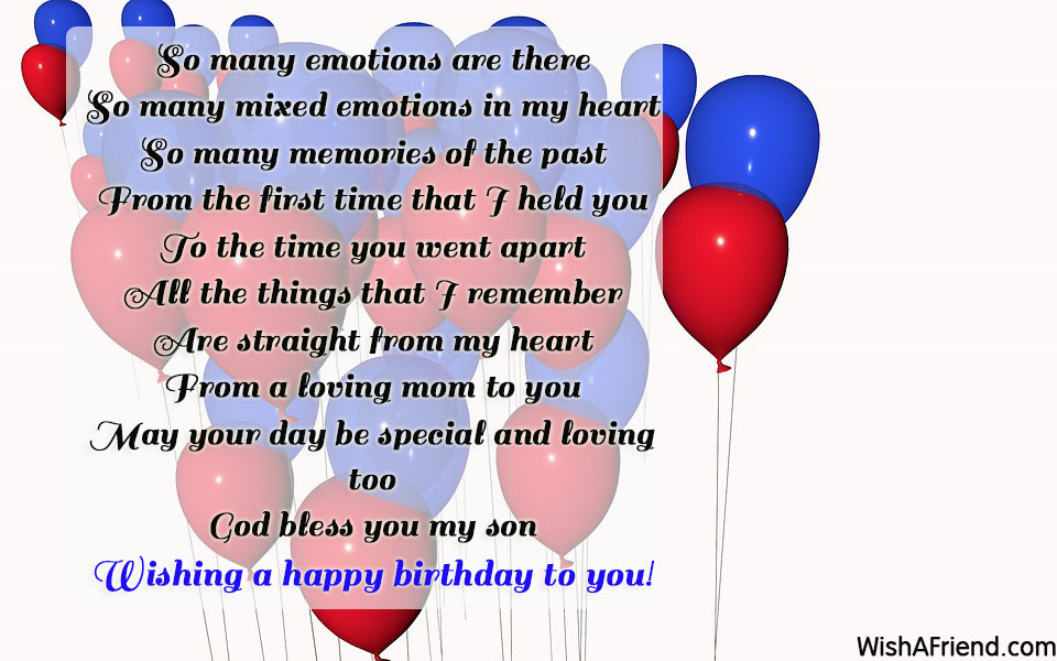 son birthday poems
