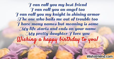 I Can Call You My Best Birthday Wish For Daughter