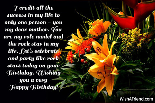 I Credit All The Success In Mom Birthday Message