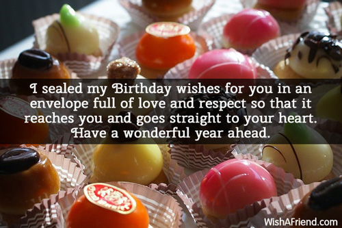 Happy Birthday Wishes Year Ahead ~ I sealed my birthday wishes for happy birthday message