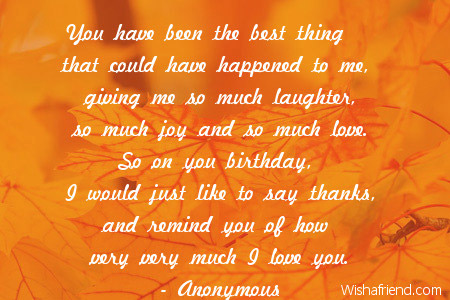 you have been the best thing birthday quote for husband
