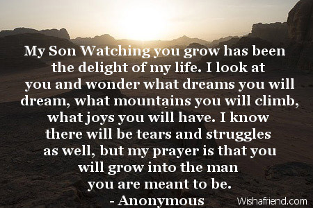My Son Watching you grow has, Birthday Quote For Son