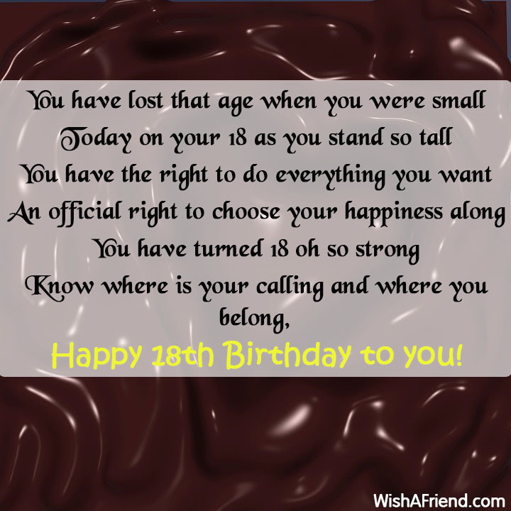 18th Birthday Sayings