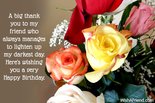 Birthday greetings for friends m4hsunfo