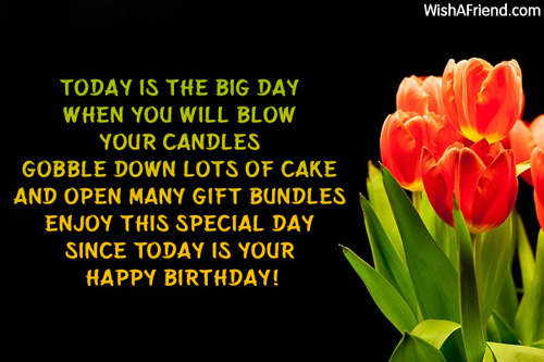 Today is the big day When you Birthday Wish For Kids