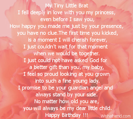 Birthday poems for girl