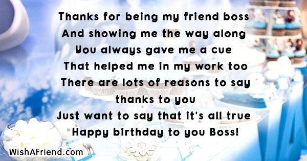 20160 Boss Birthday Wishes