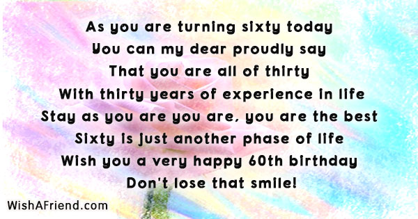 As You Are Turning Sixty Today 60th Birthday Quote Simple Quotes 60th Birthday