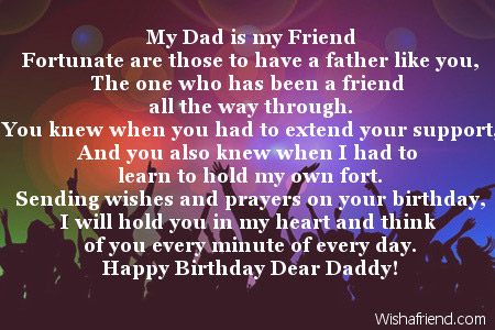 dad birthday poems my dad is my friend