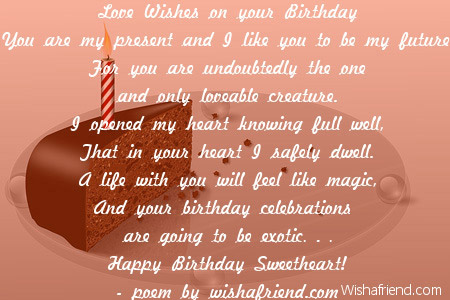 Birthday Quotes For Him Love Boyfriend Birthday Poems