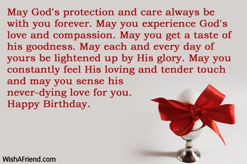 May Gods protection and care always Christian Birthday Greetings – Christian Birthday Greetings