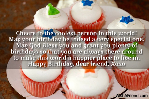 Cheers to the coolest person in birthday wish for friends 2075 friends birthday wishes m4hsunfo Images