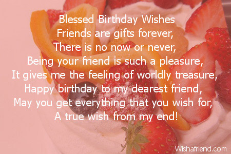Friends birthday poems blessed birthday wishes friends m4hsunfo