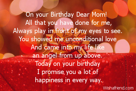 Mom Birthday Poems
