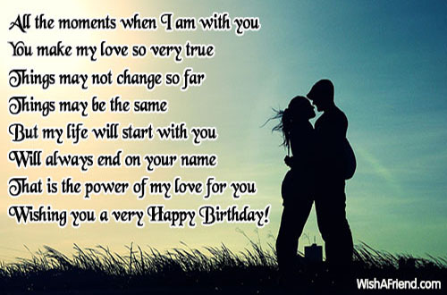 Birthday Love Quotes Interesting All The Moment When I Am Love Birthday Quote