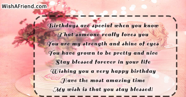 Birthdays are special when you know, Birthday Quote For Daughter
