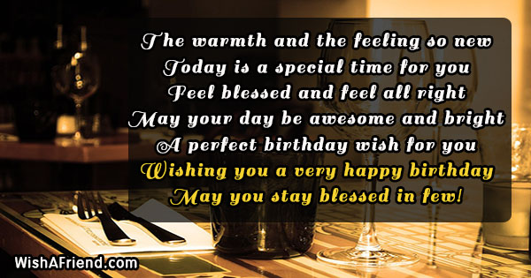 Happy Birthday Wishes Quotes | The Warmth And The Feeling So Birthday Wish Quote