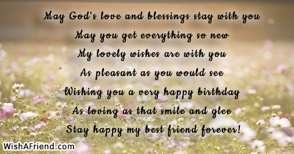 May God's Love And Blessings Stay, Friends Birthday Quote