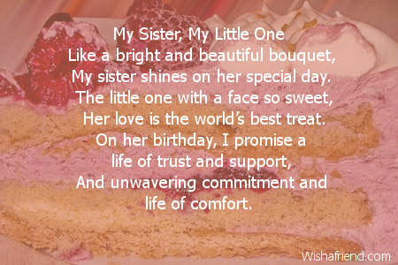 Poems For my Sisters Sister Birthday Poems