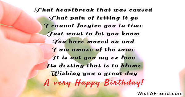 24663 Birthday Messages For Ex Boyfriend