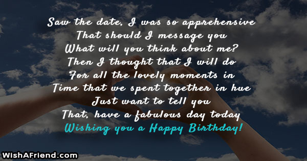 24664 Birthday Messages For Ex Boyfriend