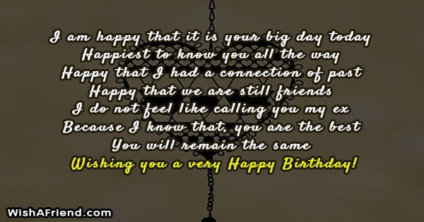 24667 Birthday Messages For Ex Boyfriend