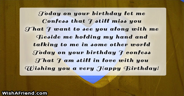 24668 Birthday Messages For Ex Boyfriend