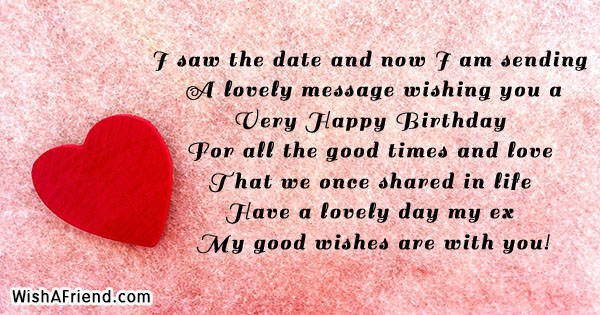 24681 Birthday Messages For Ex Boyfriend