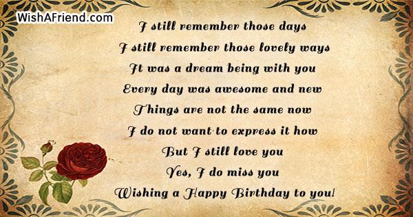 24682 birthday messages for ex girlfriend