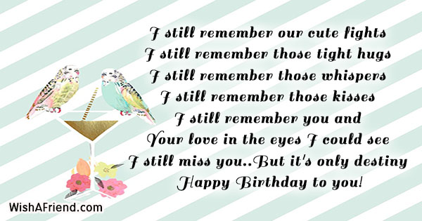 Birthday Messages For Ex Girlfriend