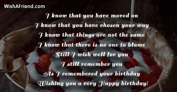 24689 birthday messages for ex girlfriend