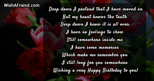 50+ Happy Birthday Wishes for Your Ex-Girlfriend or Ex