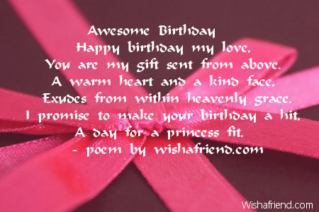 Best birthday poems for girlfriend