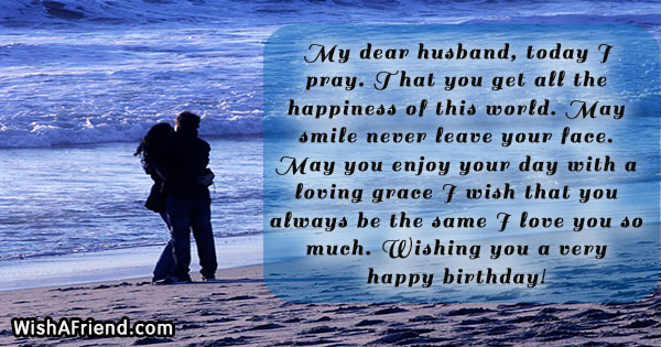 My dear husband, today I pray, Husband Birthday Message