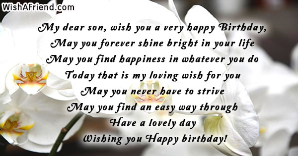 Birthday Wishes For Son.My Dear Son Wish You A Birthday Wish For Son