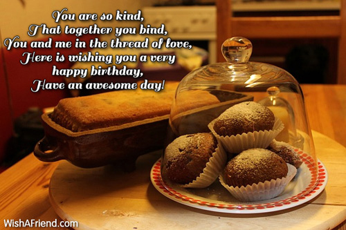 you are so kind sister birthday message