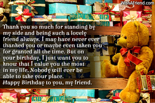 Birthday Wishes For Friends – Thank You Message for My Birthday Greetings