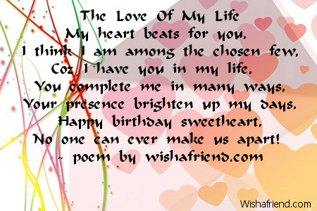 Love Birthday Poems
