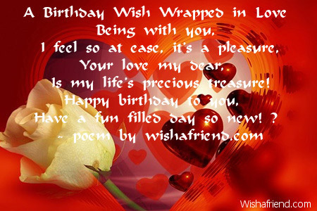 A birthday wish wrapped in love love birthday poem a birthday wish wrapped in love m4hsunfo