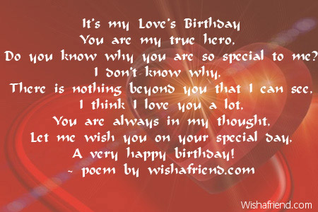 Boyfriend birthday poems page 1 for What should i do for my boyfriends birthday