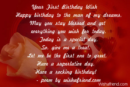 Birthday wishes for boyfriend poem