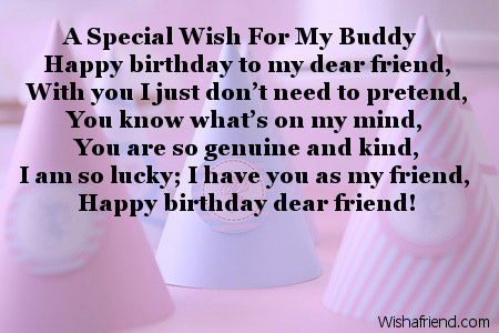 Happy birthday wishes to best friend poems