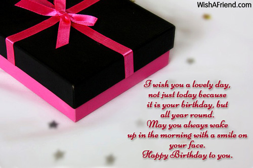 I Wish You A Lovely Day Birthday Wish For Friends