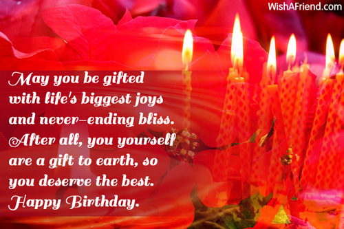 May You Be Gifted With Lifes Birthday Wish For Friends