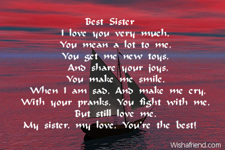 Sister Poem in Hindi Sister Birthday Poems