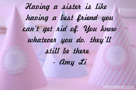 Quotes For Sister Birthday Impressive Sister Birthday Quotes